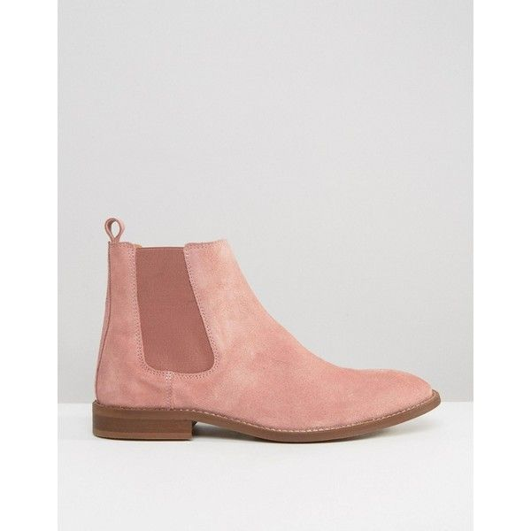ASOS Chelsea Boots In Pink Suede ($59