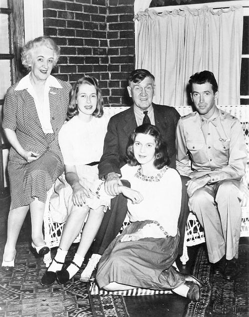 Jimmy Stewart with family, early 1940s