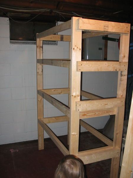 2x4 Storage Shelves Plans The Completed Frame Is Sturdy And