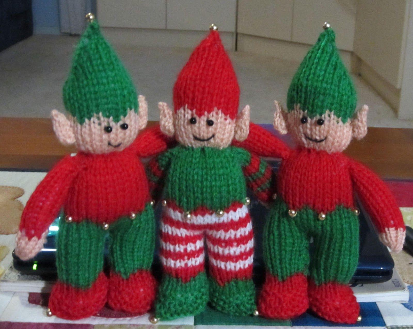 Knitting Pattern For Xmas Elf : Knitted Christmas Elves Christmas crochet Pinterest ...