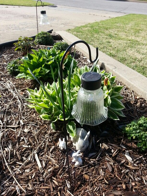 Diy Garden Solar Lights Dollar Tree Lights And Shepherd Stakes