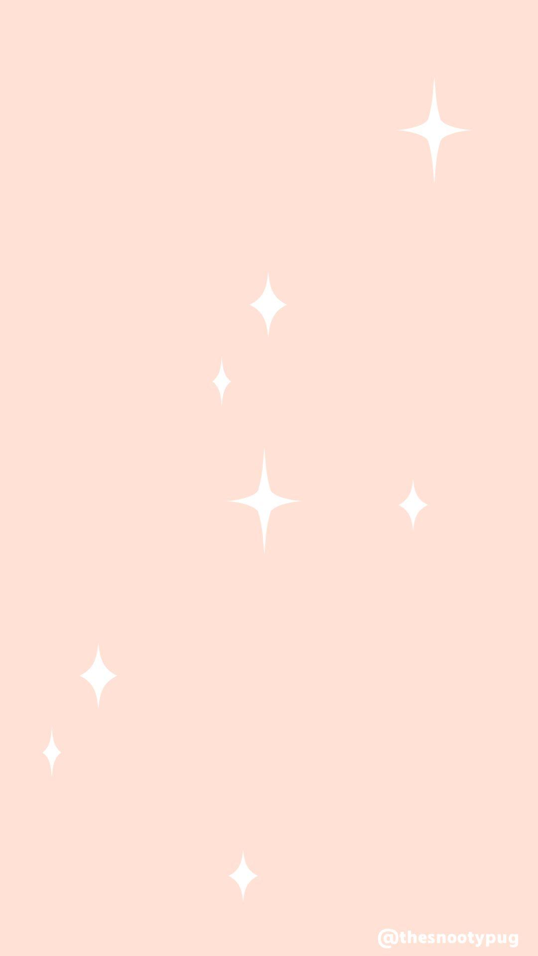 Peach trendy star wallpaper