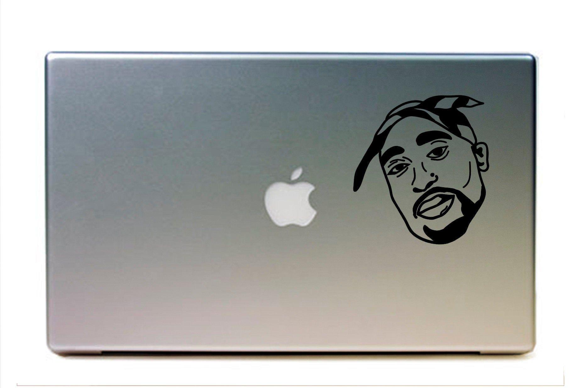 Tupac Face Tupac Thug Life Tupac Shakur Makaveli Decal Sticker Car Window Decal Wall Sticker Labtop Decal Vinyl Art Vinyl Art Vinyl Decals Window Stickers [ 1233 x 1826 Pixel ]