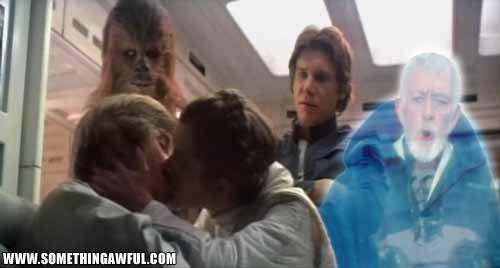 Leia And Luke Kiss Okay... i had to share this.