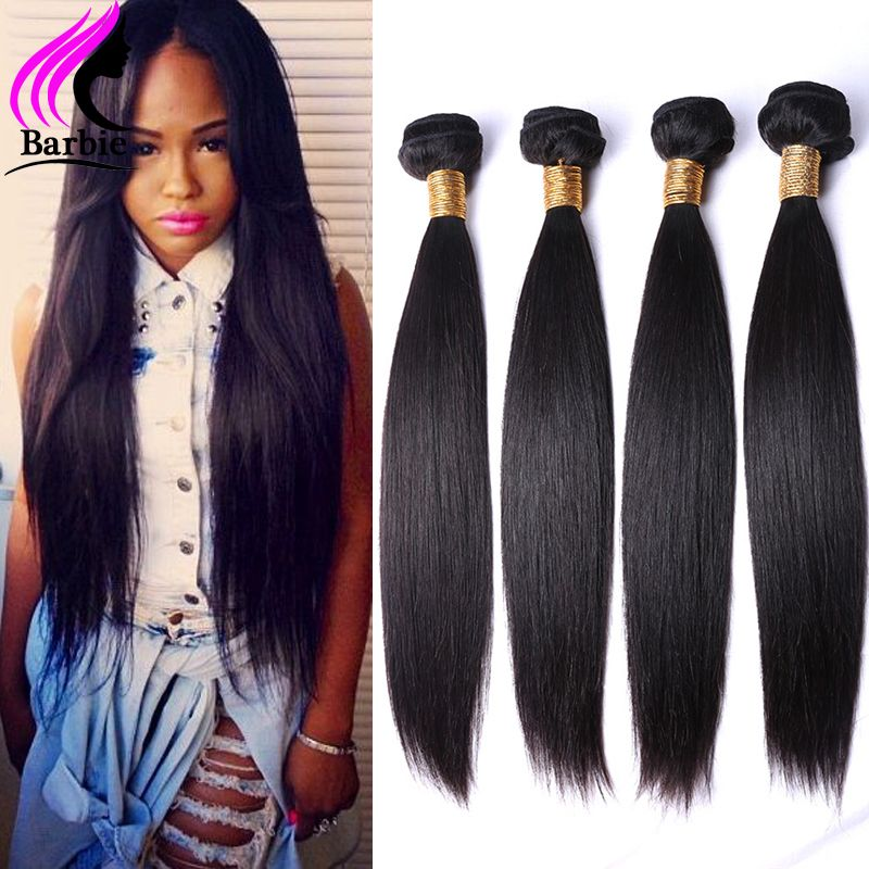 $68.00 (Buy here: http://appdeal.ru/9r4l ) Brazilian Virgin Hair Straight 4 Bundles Brazilian Straight Hair Unprocessed Brazilian Hair Weave Bundles Human Hair Weave Color for just $68.00