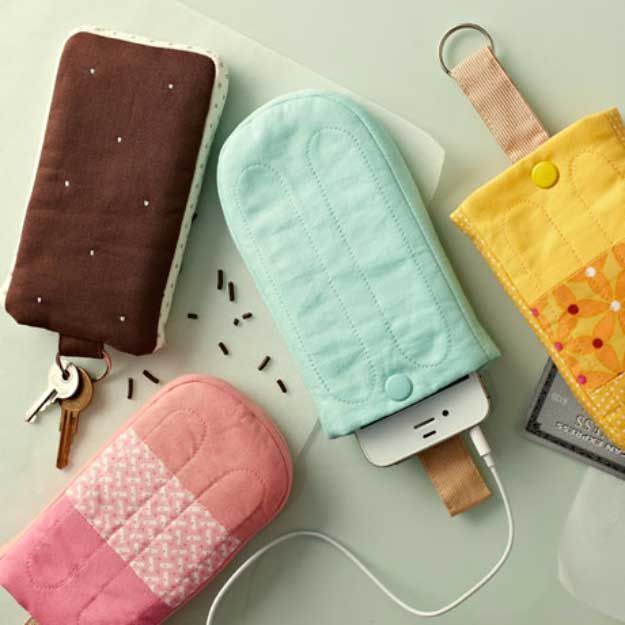Cool DIY Ideas for Your iPhone iPad Tablets & Phones | Fun Projects for Chargers, Cases and Headphones | Popsicle Pattern iPhone Covers | http://diyprojectsforteens.com/diy-projects-iphone-ipad-phone/