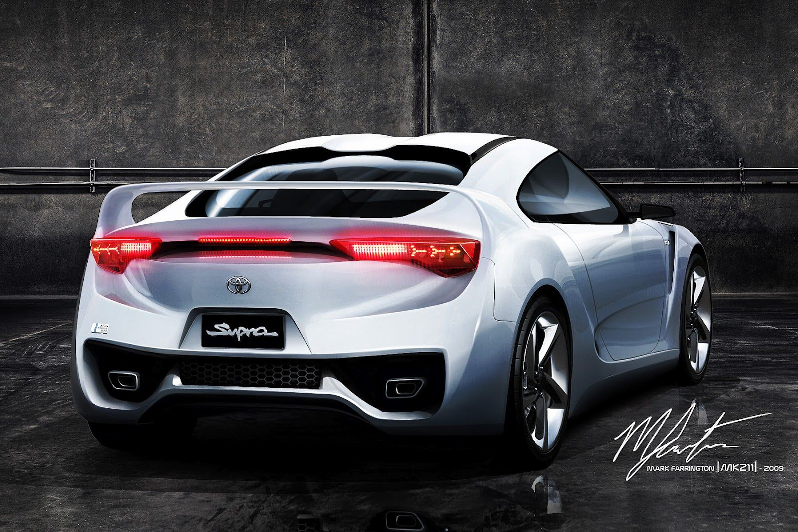 The Rear View To Complement The First View I Did Of This Concept. (Rear  View Based On Toyota FT HS Concept) Base : [link] Toyota Supra 2011 Concept