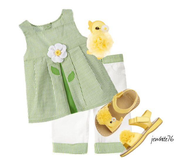 """""""Gymboree Daffodil Garden"""" by jewhite76 ❤ liked on Polyvore"""