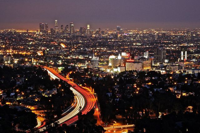 Night At Mulholland Drive Mulholland Drive California Vacation Places To Go