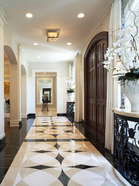 Tile Insert At Foyer Foyer Tile Ideas Floor Tile Design