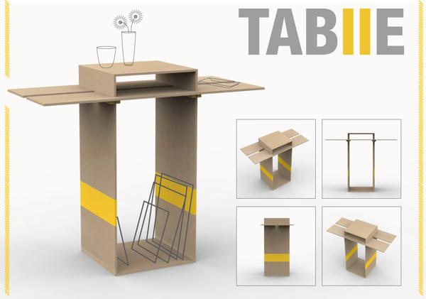 TABIIE - (Table/Mesita) by Juliana Barona Morales, via Behance