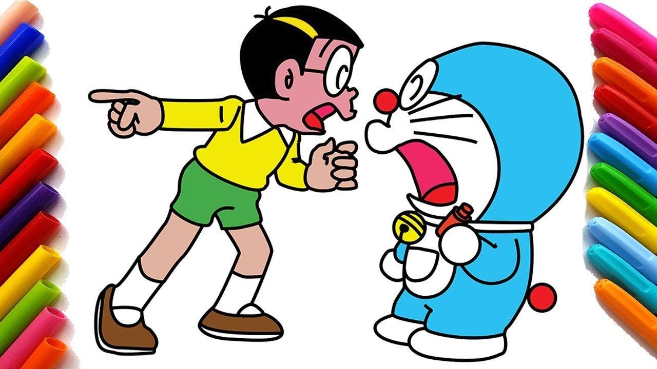 Doraemon Và Nobita Cãi Nhau Vẽ Doraemon Vẽ Và Tô Màu Doraemon