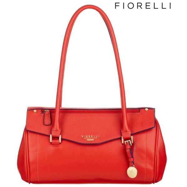 Fiorelli Francesca Shoulder Bag ($69) ❤ liked on Polyvore featuring bags, handbags, shoulder bags, red, shoulder handbags, lipsy, red shoulder bag, shoulder bag handbag and shoulder hand bags