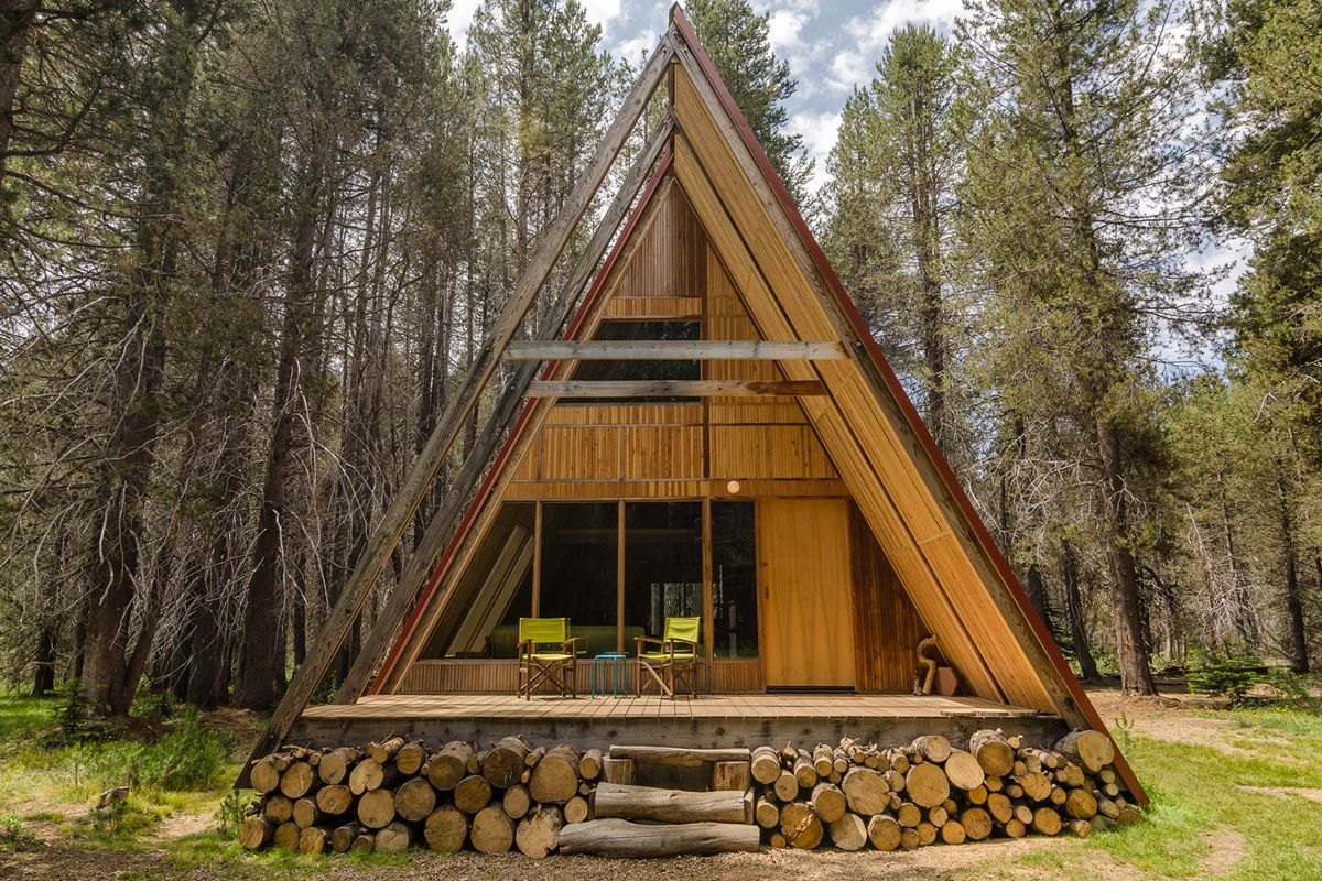 The Red A Frame Cabin At Far Meadow The Pictures A Frame Cabin Cabin Design Architecture