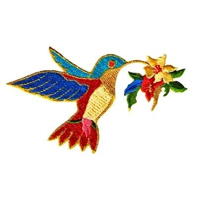 Hummingbird Applique, embroidered iron on patch $2.50   Kendin yap ...