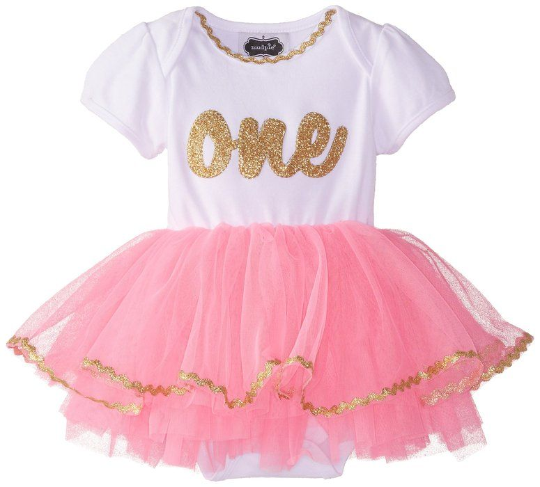Mud Pie Baby Girls Newborn IM One Tutu Crawler Pink 9 12 Months