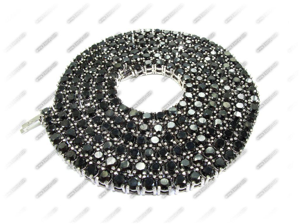 Black Diamond Chain 30 Inches Mens Diamond Chain White Gold 14k Black Diamond Chain Diamond Chains For Men Gold Chains For Men