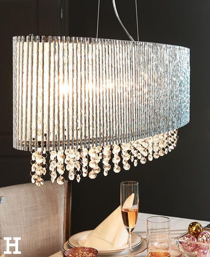 funkelndes licht ber den festtagstisch lampe leuchte idee einrichtung kristall silvester. Black Bedroom Furniture Sets. Home Design Ideas