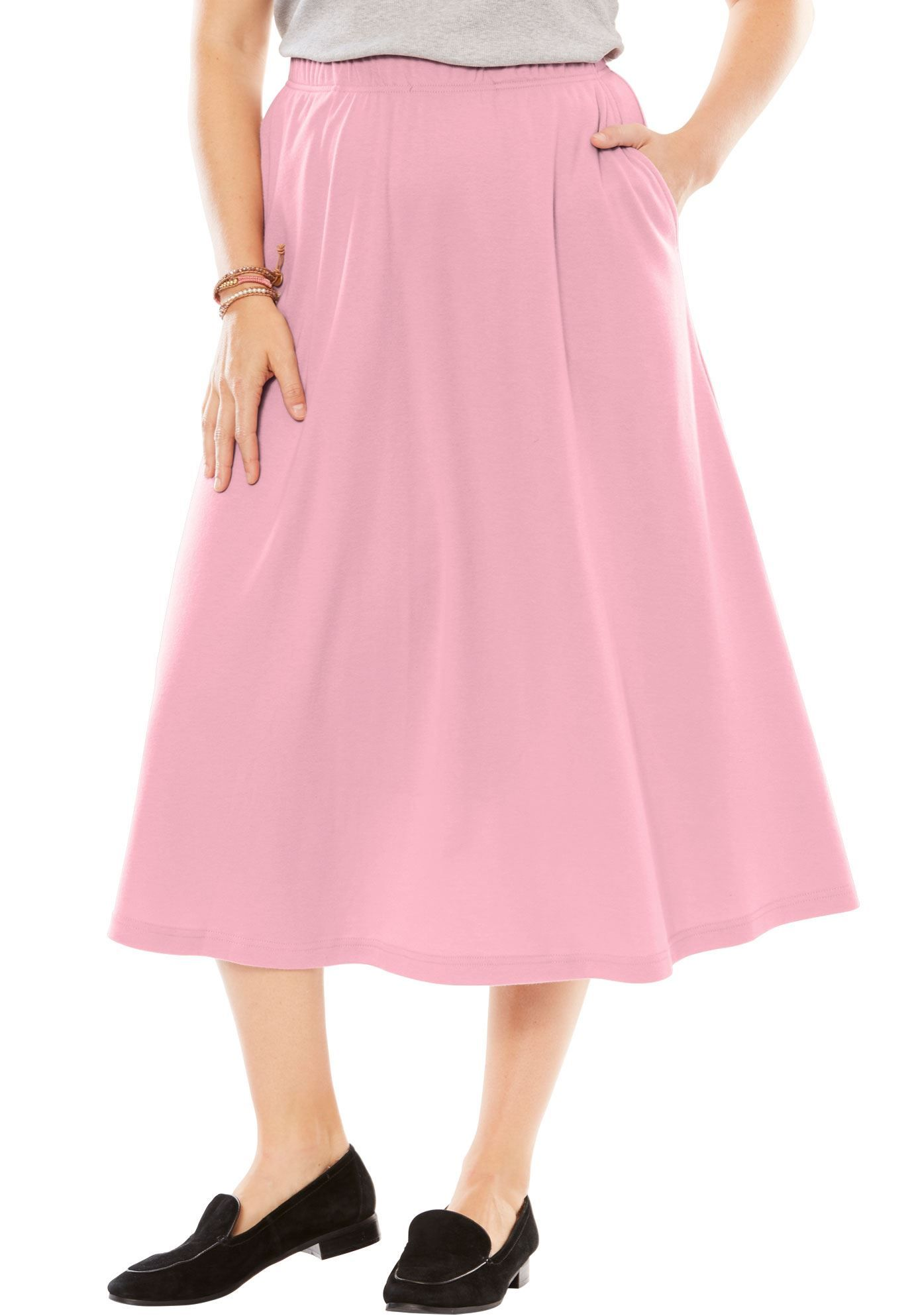 97e1658295 Petite 7-Day Knit A-line skirt - Women's Plus Size Clothing ...