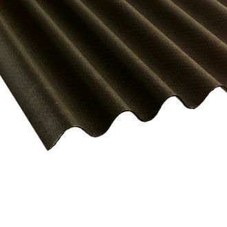 Coroline Corrugated Upvc Bitumen Sheet Black 2000 X 950mm Corrugated Sheets Screwfix Com Black Sheets Corrugated Sheets Corrugated