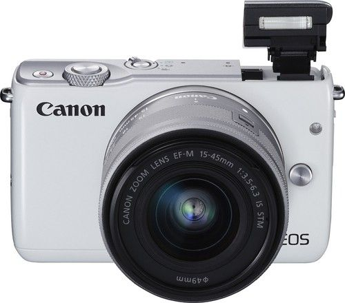 Best Buy Canon Eos M10 Mirrorless Camera With 15 45mm Lens White 0922c011 Mirrorless Camera Canon Eos M10 Zoom Lens