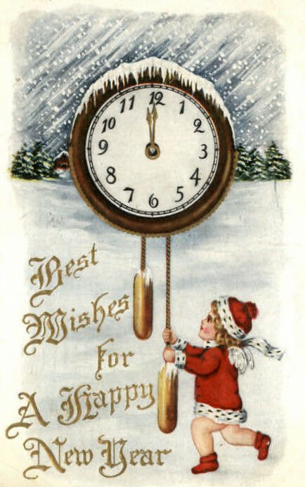 Vintage New Year S Images Public Domain Condition Free Vintage Happy New Year New Year Postcard Happy New Year Cards