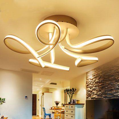 New Modern Led Ceiling Lights For Living Room Bedroom Aluminum
