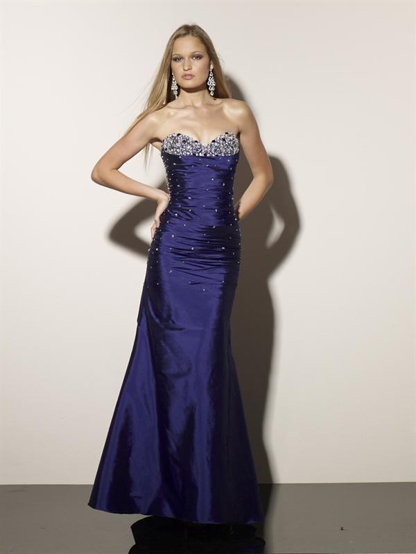 Vestidos de noche largos en color azul