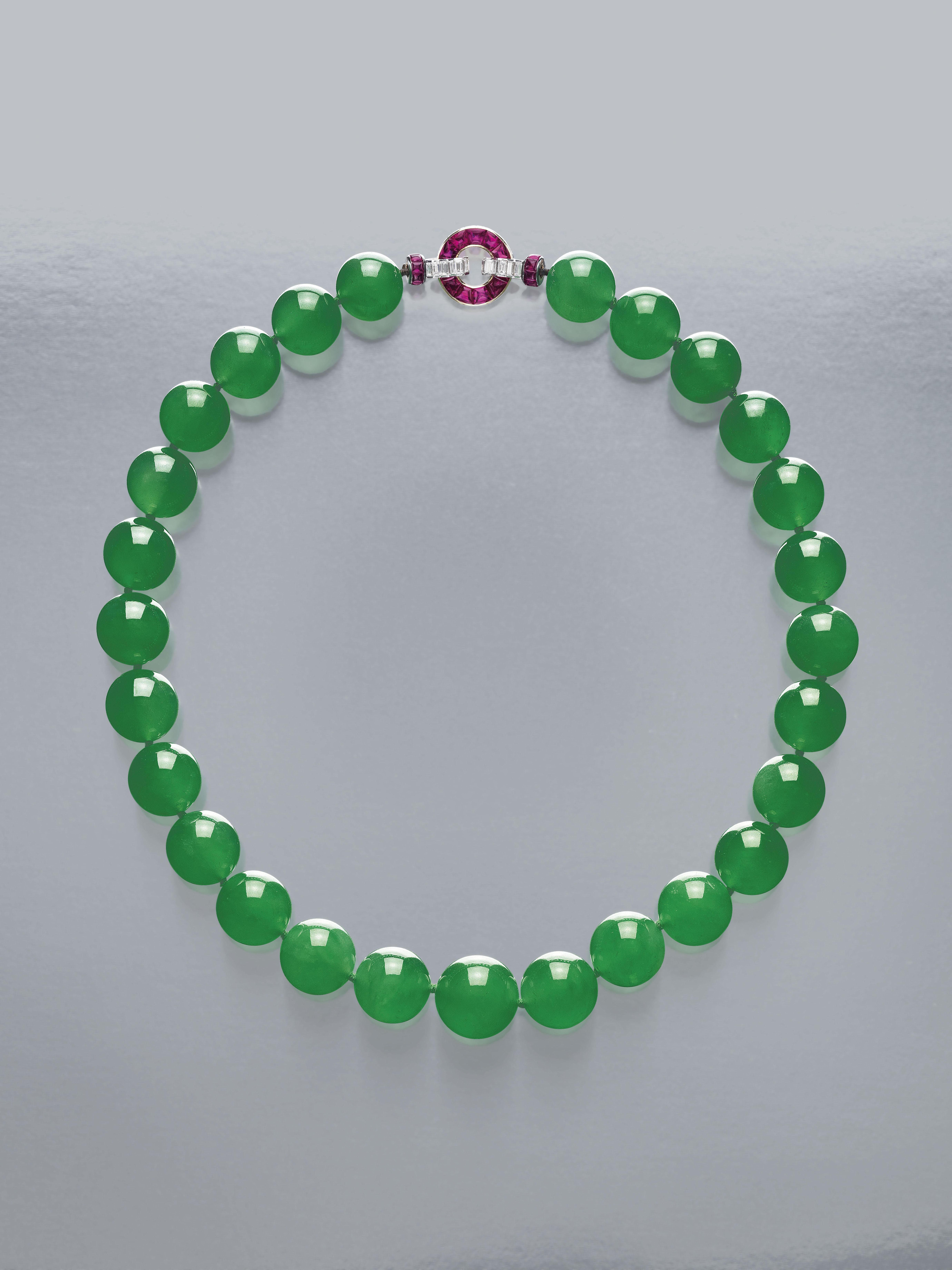 Sotheby's HK_The Hutton-Mdivani Necklace , art deco diamond and ruby clasp by CARTIER