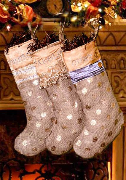 Silver and Gold personalized Burlap Shabby by cleanwaterchristmas, $38.00