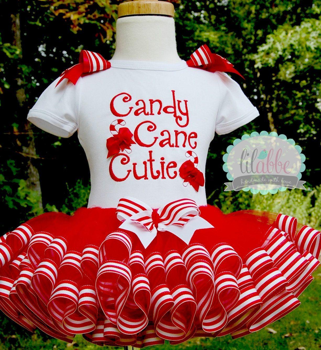 Candy cane christmas tutu set candy cane cutie christmas