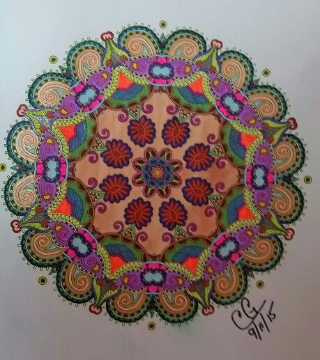 Finished On 9 11 Colorama Coloring Book Gel Pens And Fine Tip