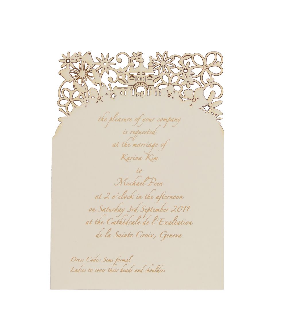 Chartula fairytale bespoke laser cut ceremony invitation chartula fairytale bespoke laser cut ceremony invitation designer invitations for a luxury wedding by chartula stopboris Gallery