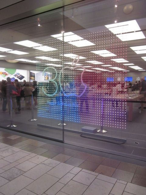 Apple Store Celebrating 30 Years Of Mac With Floating Leds Dave