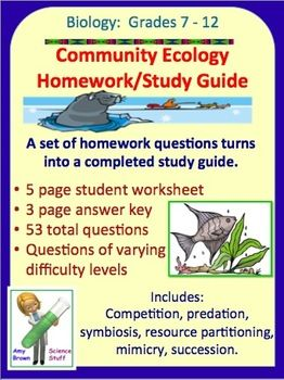 ecology study guides Tcss ecology test study guide name _____ date _____ 8 draw a diagram which shows how the amount of stored energy changes going up a food chain for.
