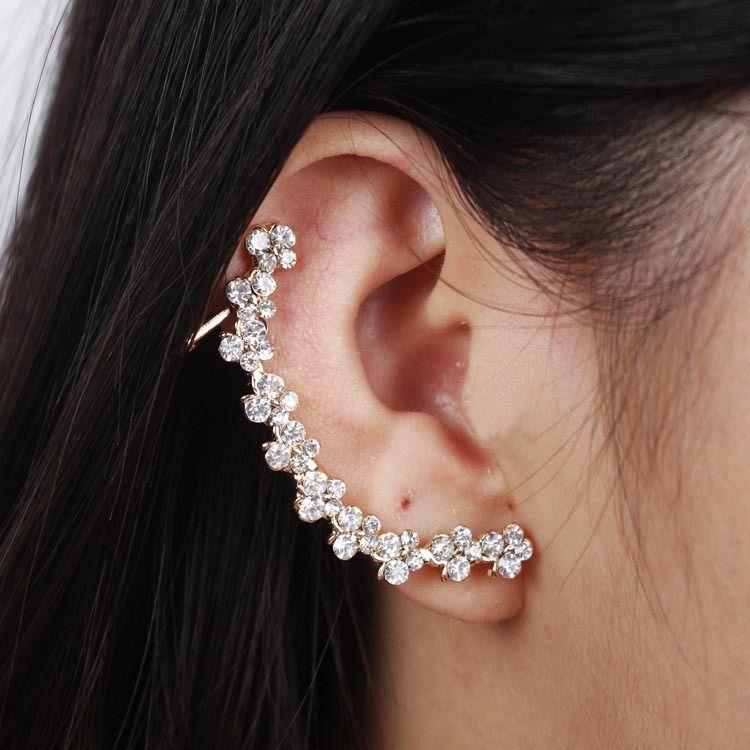 Ear Cuffs For Women S Full Rhinestone Earring Clip