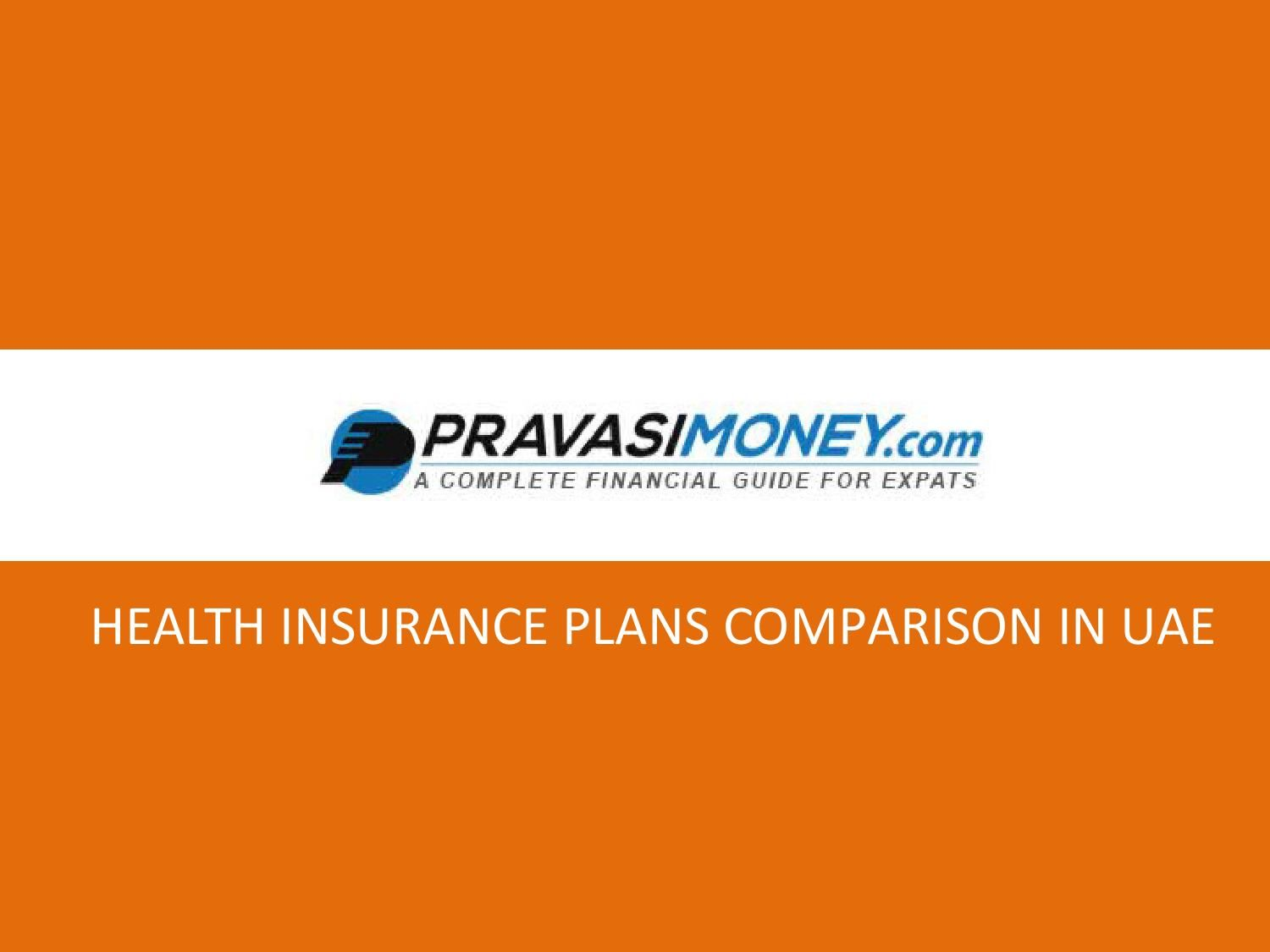 Health Insurance Plans Comparison In Uae Health Insurance Plans