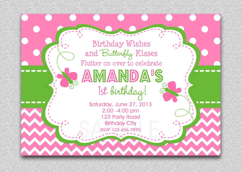 Butterfly Birthday Invitation, Butterfly Birthday Party Invitation ...