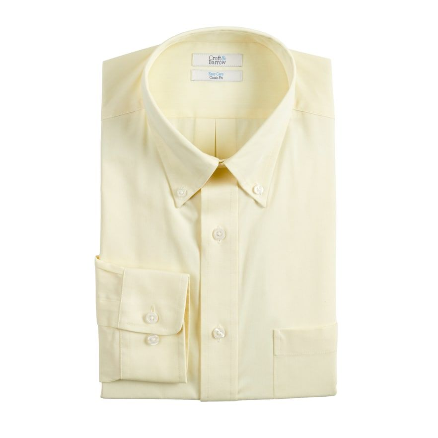 Men S Croft Barrow Slim Fit Easy Care Button Down Collar Dress