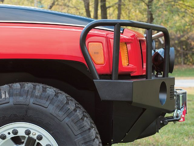Hummer H3 With Grille Guard And Bumper Hummer Hummer H3 Winch Bumpers
