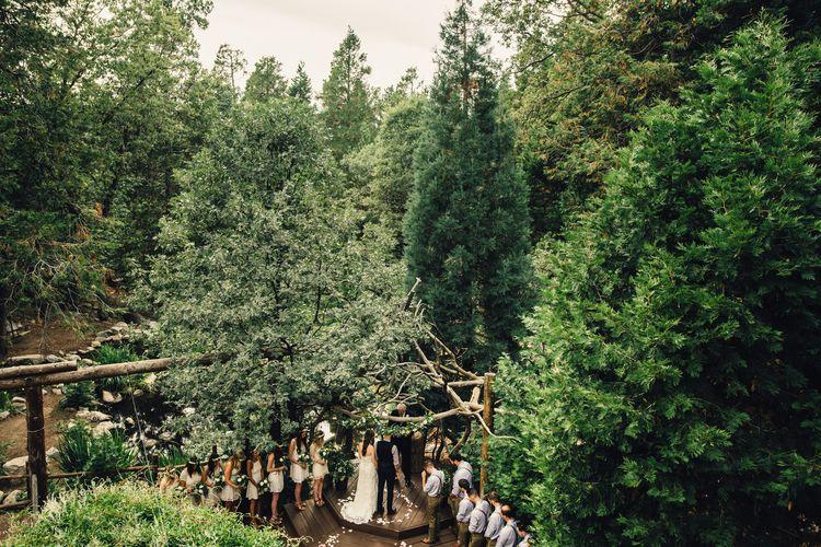 Forest Cabin Wedding Lake Arrowhead