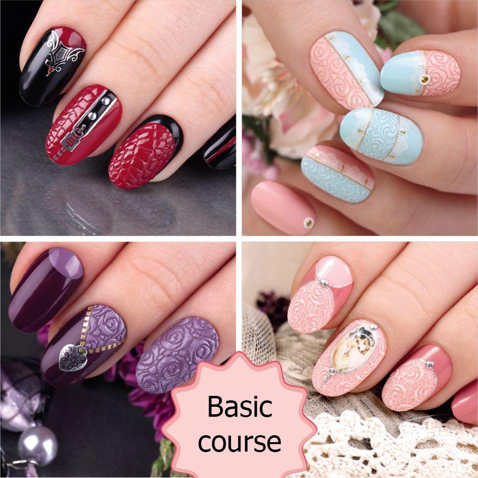 Rose Nail Art Design Easy To Do With Nail Stickers From Emi School Of Nail Design Nejl Art Nogti Naklejki Dlya Nogtej
