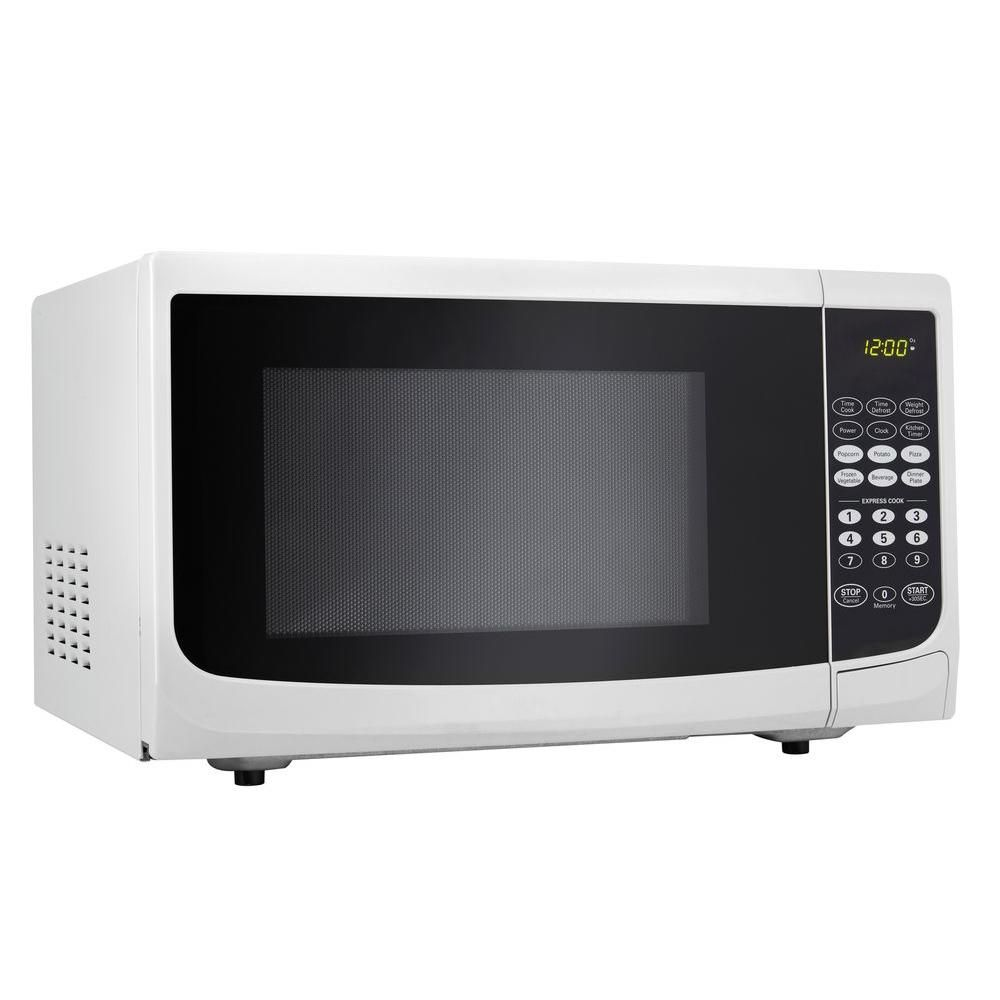 Danby 0 7 Cu Ft Countertop Microwave In White Dmw7700wdb White