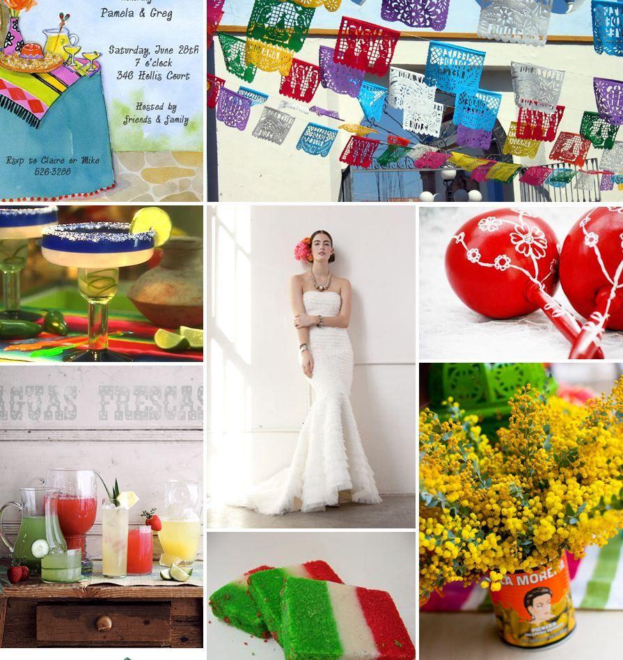 Maracas, colores patrios y papel picado en tu boda mexicana | Boda ...