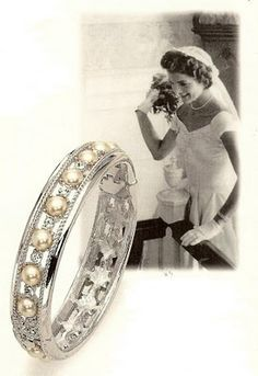 The Bracelet Bride Wore On Her Wedding Day Jfk And Jackie Designed This Together Before Their In Contributed Pearls