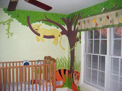 Jungle Themed Nursery Murals Muralore