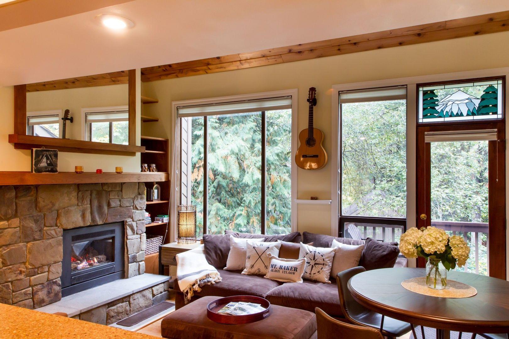 Pin By Luxury Getaways On Snowater Rivers Edge Luxury Getaway Common Area River Edge