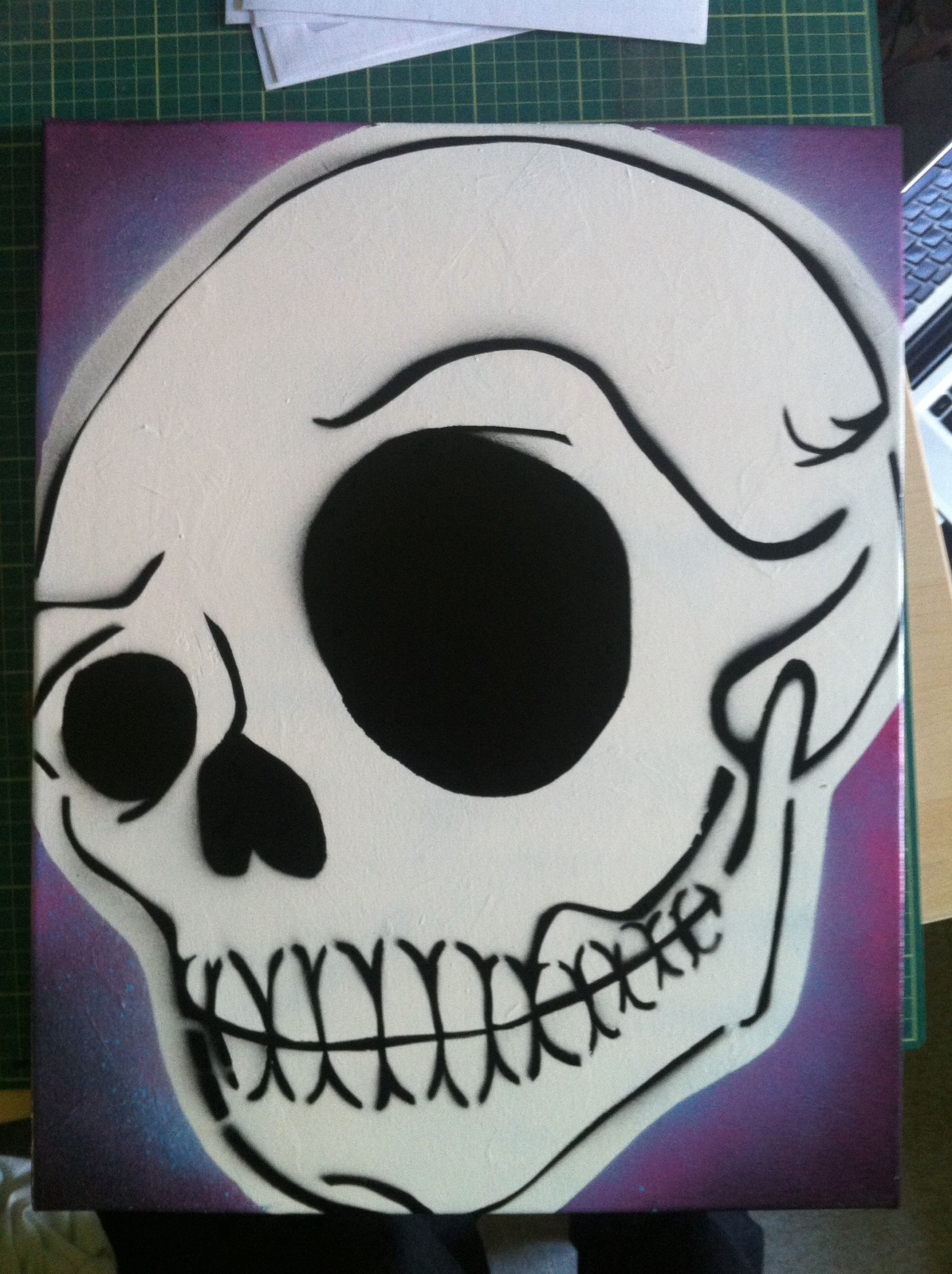 Skull Skeleton Bones Mylar AIRRUSH Painting Wall Art Stencil