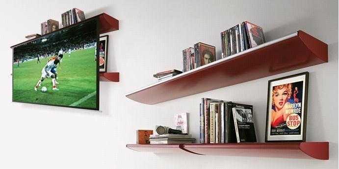 Hidden Screen In Shelf Home Theater Retractable