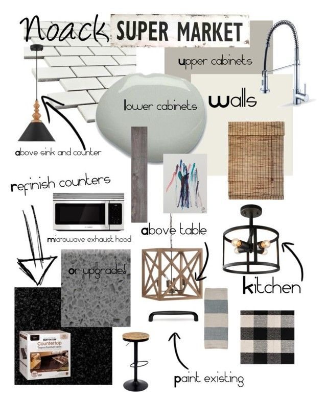 """Noack Rustic Mod Kitchen"" by blessed-cre8ivity on Polyvore featuring interior, interiors, interior design, home, home decor, interior decorating, Merola, Universal Lighting and Decor, Bosch and Home Decorators Collection"